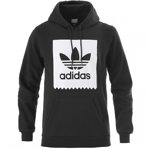 ADIDAS ORIGINALS SOLID BLACKBIRD PULLOVER HOODY BLACK